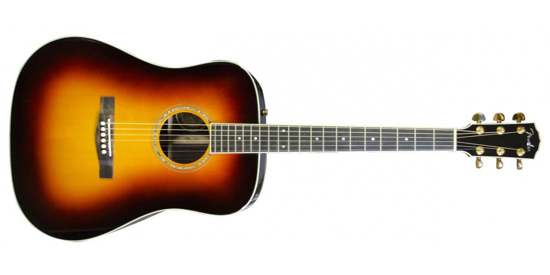 Fender USA Custom Shop Pro TPD-2 All Solid Dreadnought Acoustic Guitar Sunburst Finish