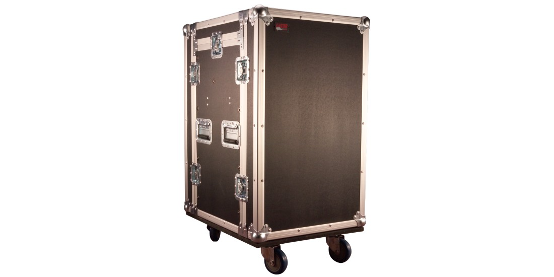 10U Top 16U Side Audio Road Rack Case