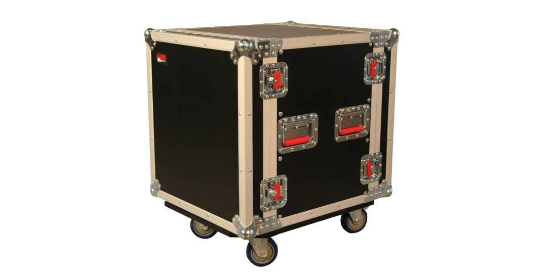12U 24 Deep Audio Road Rack Case w/ Casters