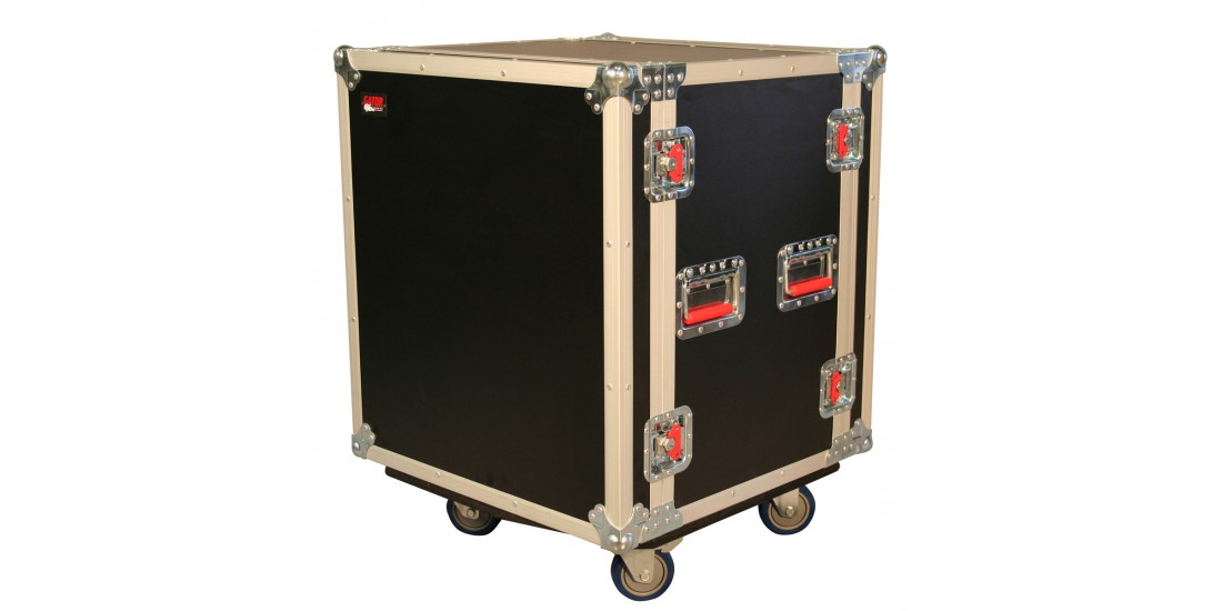 12U Shock Audio Road Rack Case w/ Casters