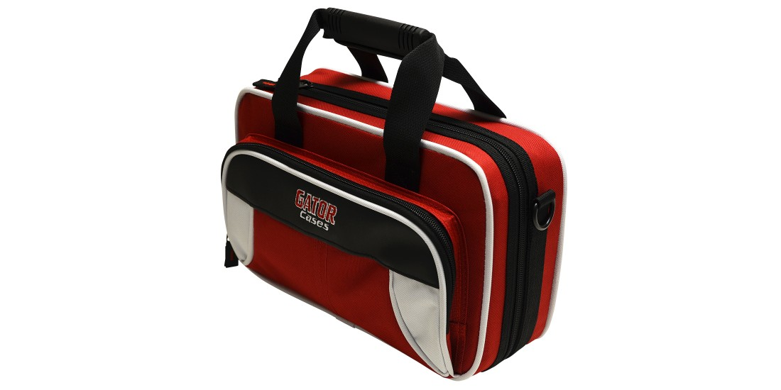 Lightweight Clarinet Case White and Red