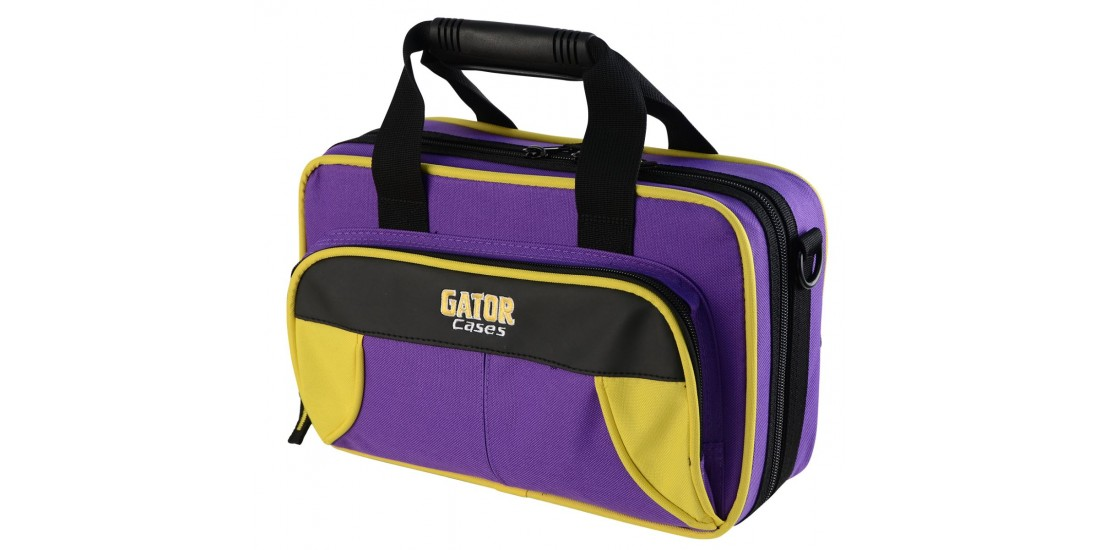 Lightweight Clarinet Case Yellow and Purple