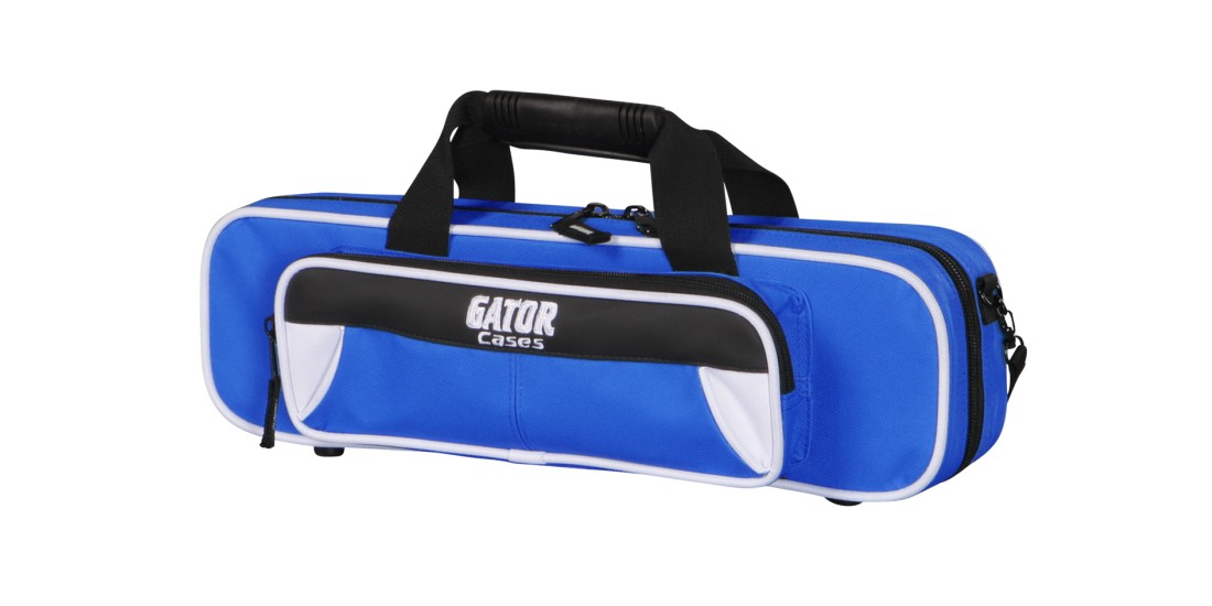Lightweight Flute Case White and Blue