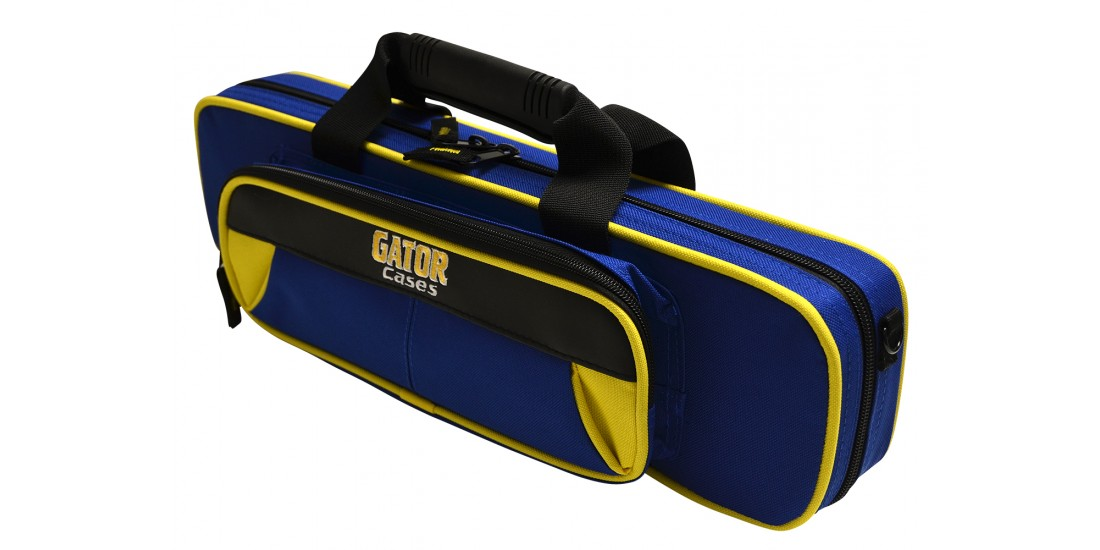 Lightweight Flute Case Yellow and Blue