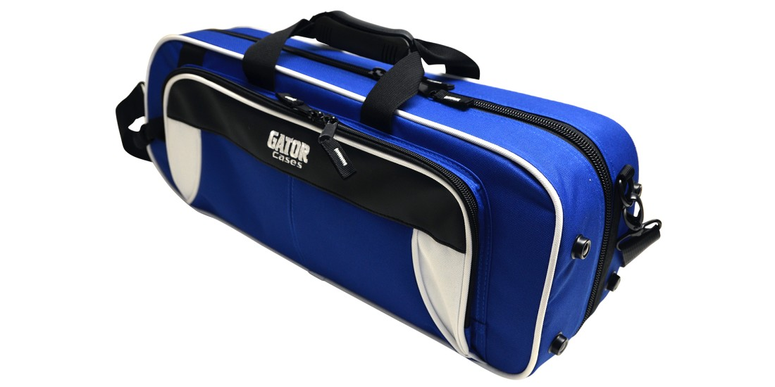 Lightweight Trumpet Case White and Blue