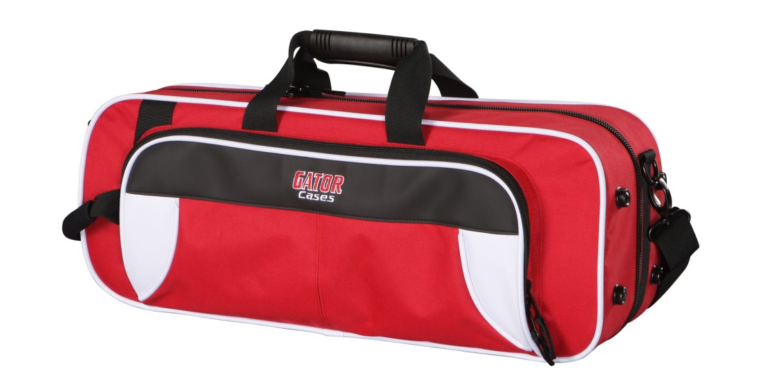 Lightweight Trumpet Case White and Red