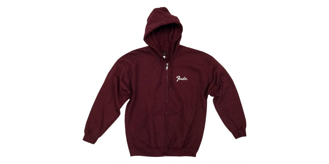 Fender Genuine Quality Hoodie Maroon Sweatshirt XL