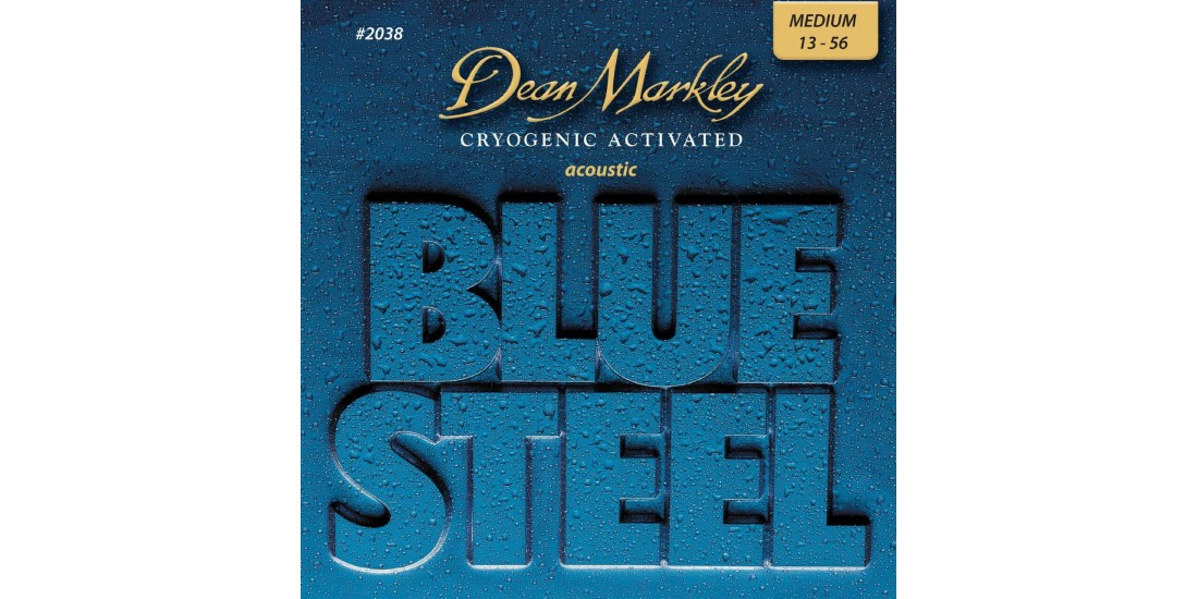 Dean Markley Blue Steel Acoustic Guitar Strings (Medium: 13-56)