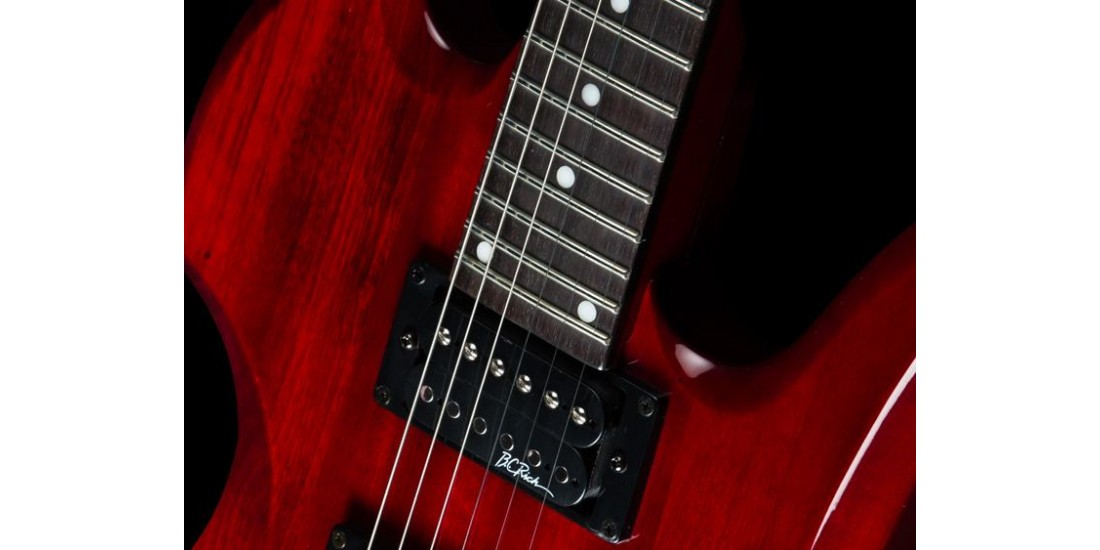 BC Rich MG1TRD Mockingbird Trans Red Electric Guitar String Thru