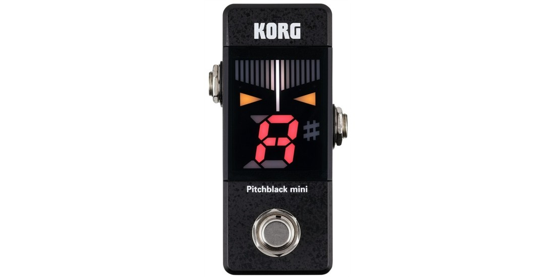 Korg PB01 Mini Pitchblack Chromatic Pedal Tuner in a Compact Size for Guitar or Bass