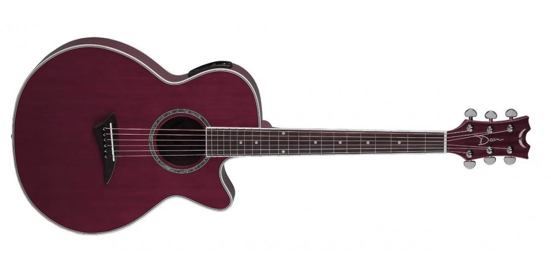 Dean PE-TPP Performer Acoustic Electric Trans Purple