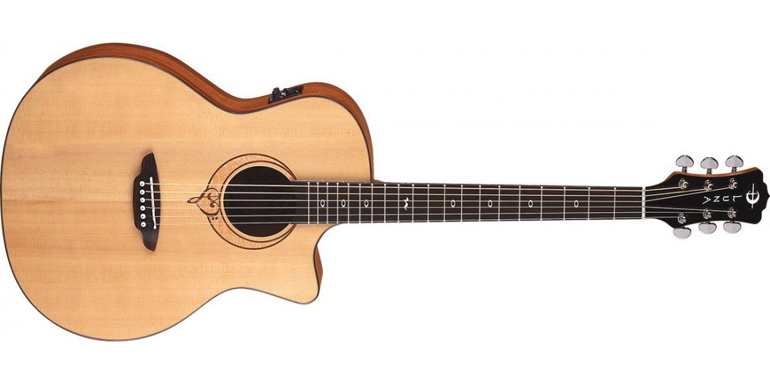 Luna Heartsong Grand Concert Electric Acoustic Guitar with USB Output - B Stock