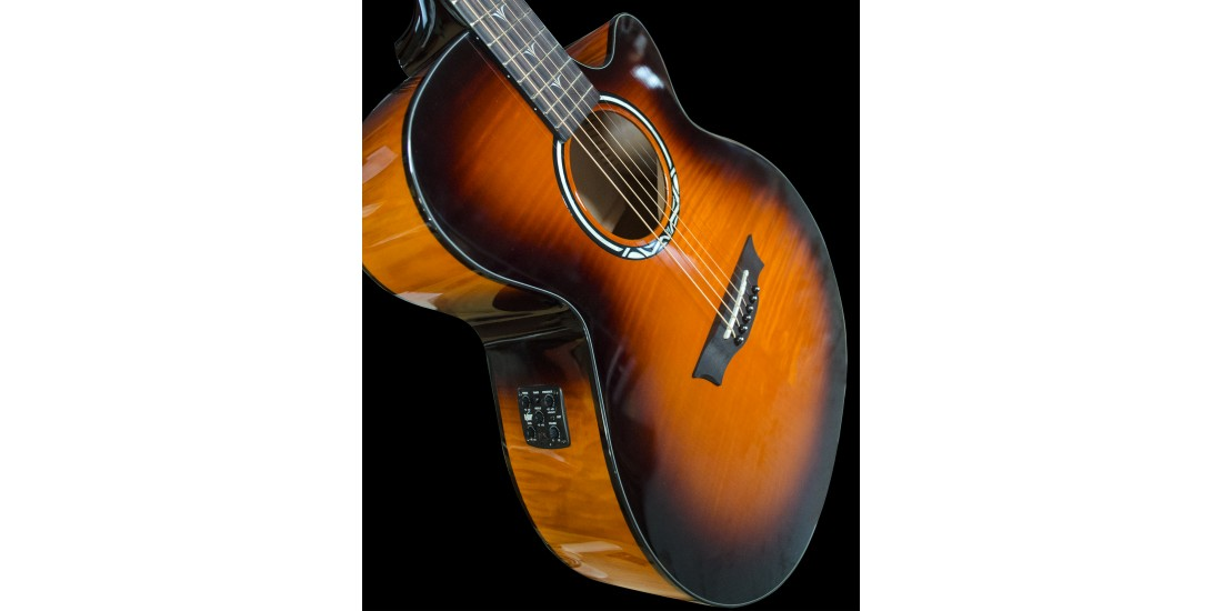 Dean PE-UFM-TGE Performer Ultra Acoustic Electric Flamed Maple Top in Tiger Eye