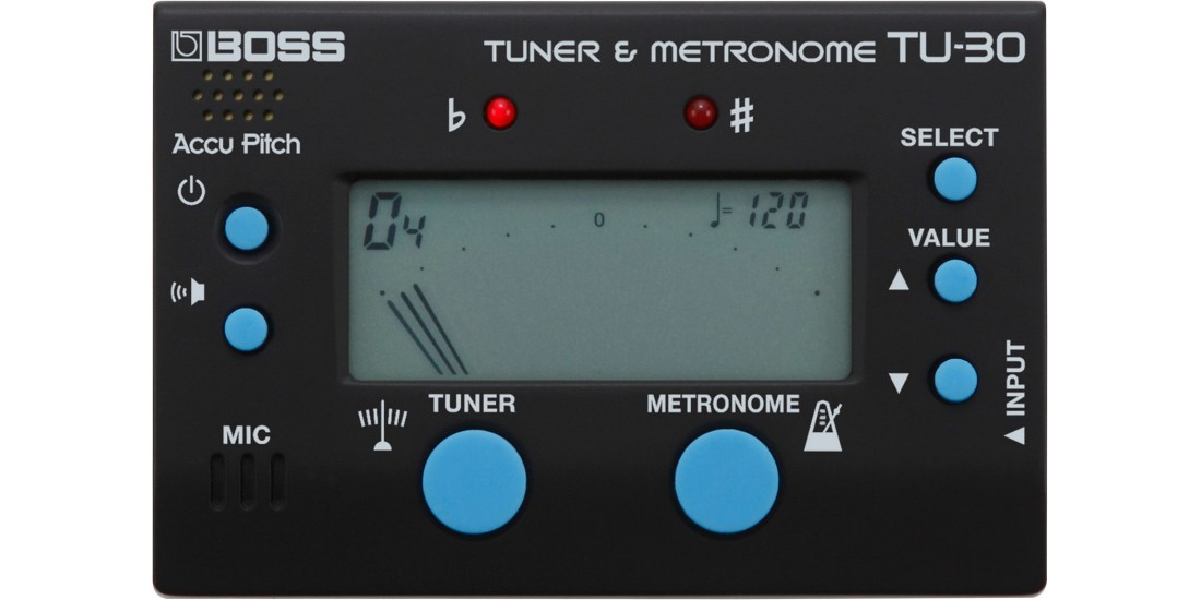 Boss  TU30  Chromatic  Electronic  Guitar  Tuner  with  Metronome
