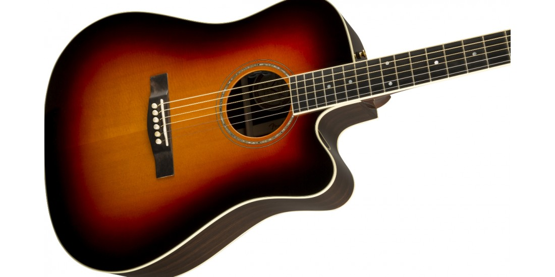 Fender USA Custom Shop Pro TPD-2CE All Solid Dreadnought Acoustic Electric Guitar Sunburst Finish
