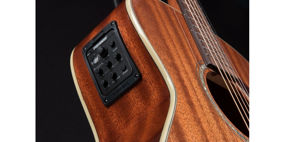 Open Box - Washburn HG120SWEK Heritage Solid Mahogany Series Grand Auditorium Acoustic Electric Guitar with Factory Case