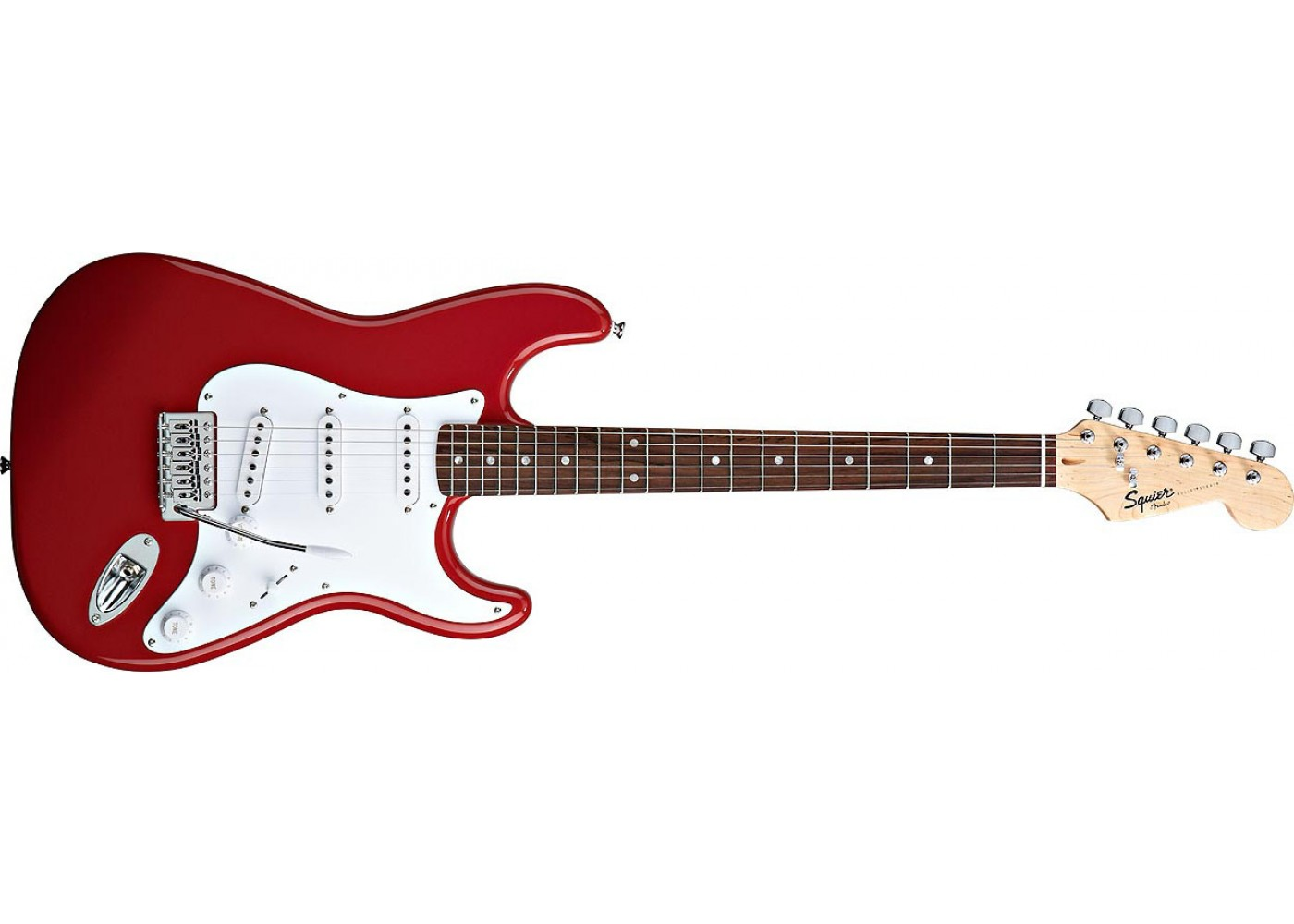 fender squier bullet with tremolo fiesta red rosewood fretboard. Black Bedroom Furniture Sets. Home Design Ideas