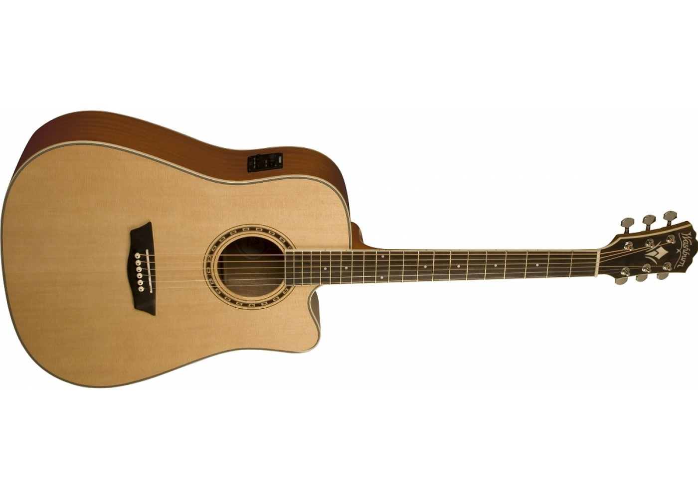 Washburn WD10SCE-NS Dreadnought Electric Acoustic Guitar