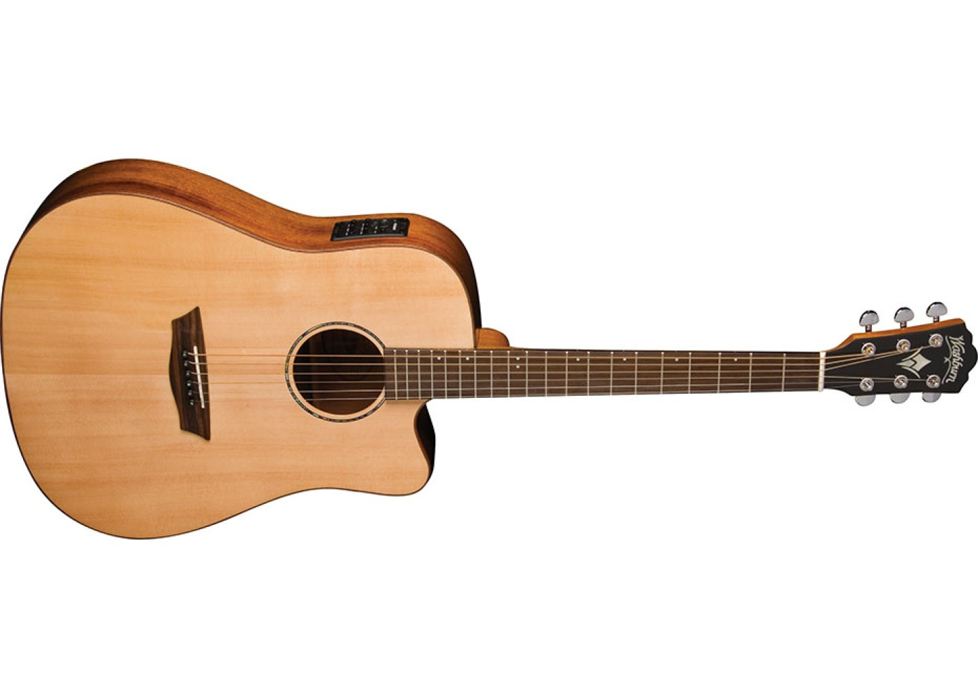 washburn solid wood wd150swce dreadnought acoustic electric guitar. Black Bedroom Furniture Sets. Home Design Ideas