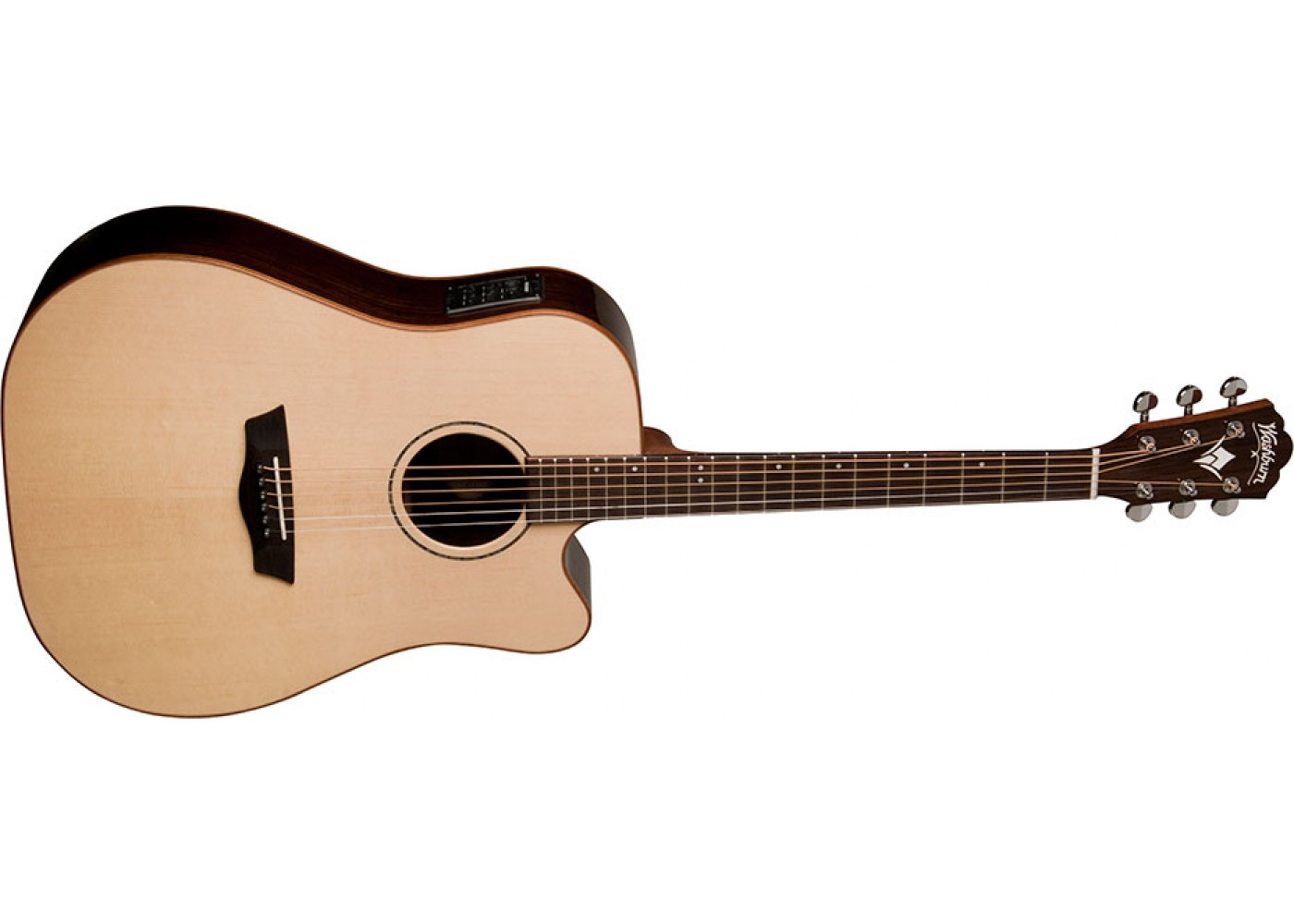 Washburnwd250swce All Solid Wood Dreadnought Acoustic