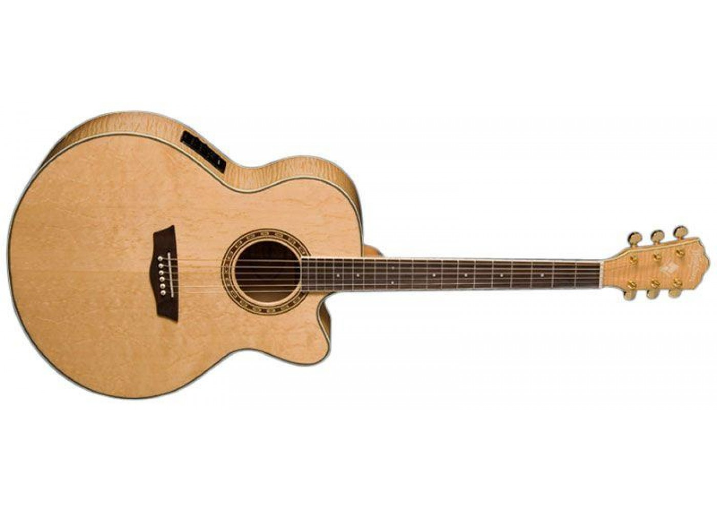 washburn wj40sce jumbo electric acoustic guitar with cutaway w case. Black Bedroom Furniture Sets. Home Design Ideas