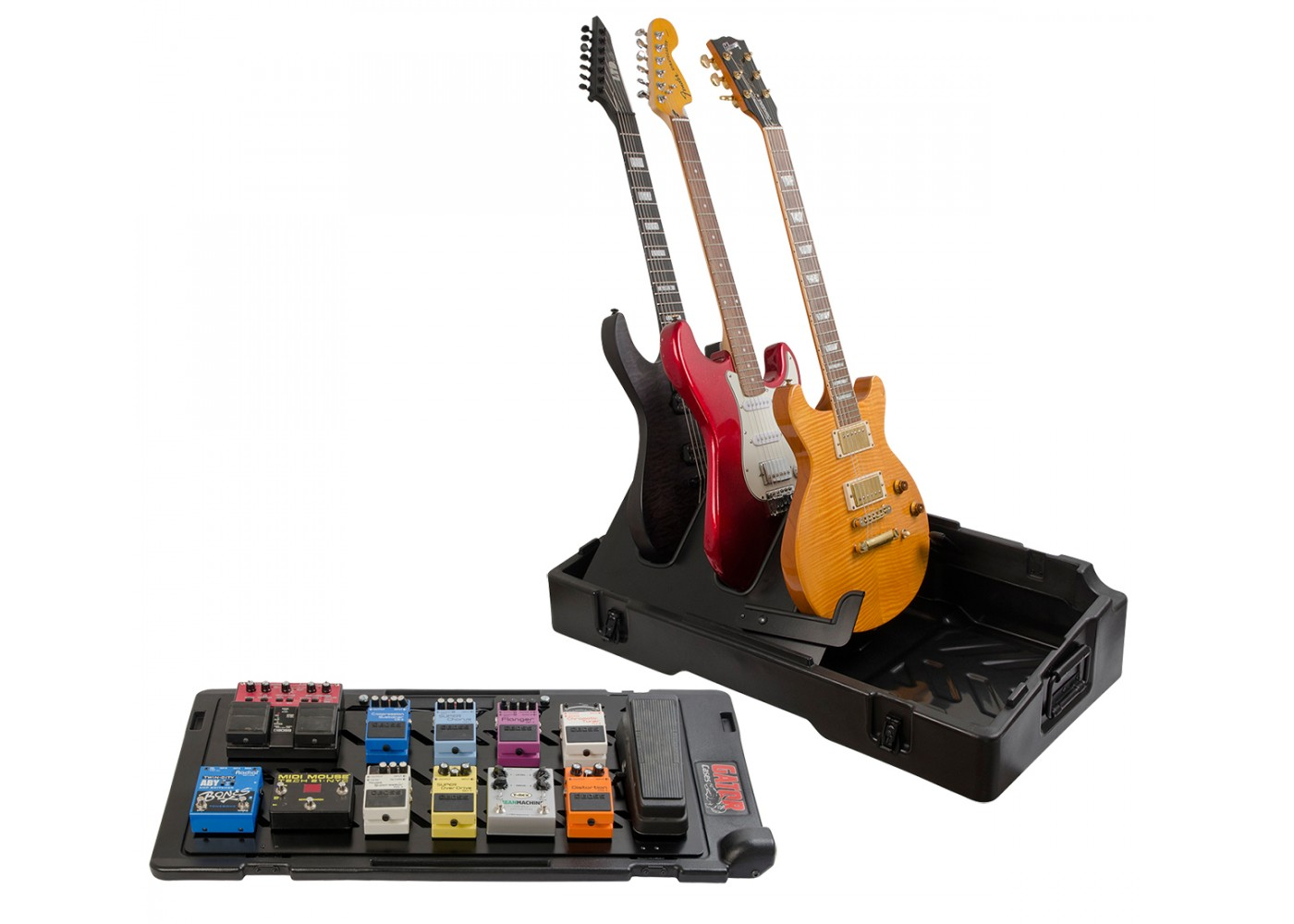 Updated Gig Box Pedal Board Guitar Stand Case