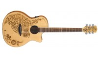 Luna Henna Oasis Spruce Acoustic Electric Guitar..