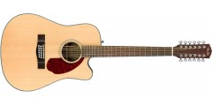 Fender CD140SCE 12-String Acoustic Electric Natural Finish with case