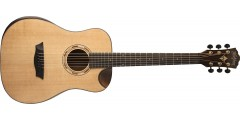 Washburn WCDM15SK Mini Dreadnought Acoustic with Cutout Solid Sitka Spruce