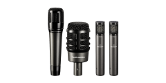 Audio Technica Drum Mic Kit with 4 Mics ATM250DE ATM650 and two two ATM450