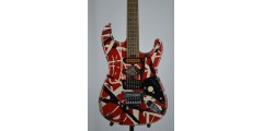 EVH STRIPED SERIES FRANKIE Red with Black Stripes Relic SN EVH2000160