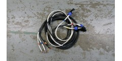 Used - 10 foot 8 conductor speaker cable with 3 speakon connectors