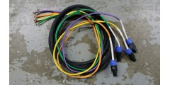 Used - 16 foot 8 conductor speaker cable with 4 speakon connectors