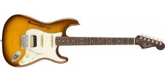 Fender Rarities Stratocaster Thinline HSS Solid Rosewood Neck Violin Burst