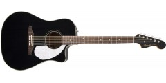 Fender Sonoran California Series Solid Top Acoustic Electric Guitar Black w