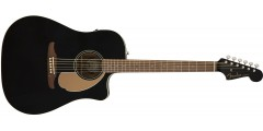Fender Redondo Player Electric Acoustic Jetty Black Guitar with Walnut Fret