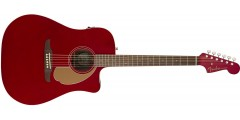 Fender Redondo Player Electric Acoustic Candy Apple Red Guitar with Walnut