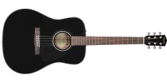 Fender CD-60 Dreadnought V3 w/Case Walnut Fingerboard Black