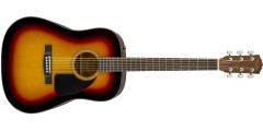 Fender CD-60 Dreadnought V3 w/Case Walnut Fingerboard Sunburst