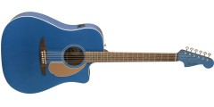 Fender Redondo Player Electric Acoustic Belmont Blue Guitar with Walnut Fre