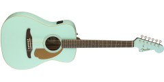 Fender Malibu Electric Acoustic Guitar in Aqua Splash with Walnut Fretboard