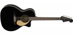 Fender Newporter Player in Electric Acoustic Guitar in Jetty Black with Wal