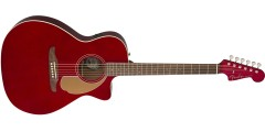 Fender Newporter Player in Electric Acoustic Guitar in Candy Apple Red with