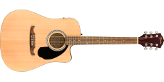 Fender FA-125CE Dreadnought Cutaway Electric Walnut Fingerboard Natura..