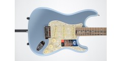 Fender American Elite Stratocaster Ebony FB Satin Ice Blue Serial #US190657