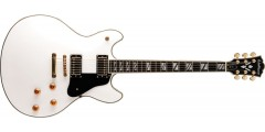 Washburn HB45WHK Hollowbody Electric Guitar in White with Hardcase