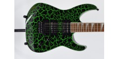Jackson X Series Soloist SLX Crackle Laurel Fingerboard Green Crackle