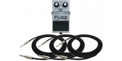 Boss  FZ5  Fuzz  Pedal  Bundle  with  Three  EXO  CG10  Guitar  Cables