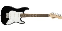 Squier by Fender Mini Stratocaster Electric Guitar Laurel Fretboard Black