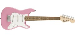 Squier by Fender Mini Electric Guitar Laurel Fretboard Pink